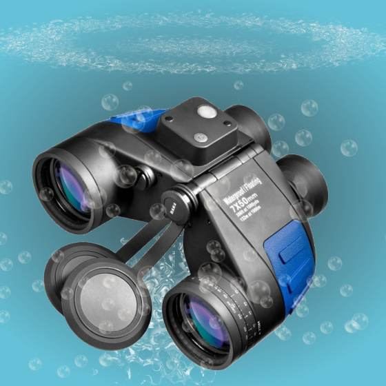 Deep Sea Waterproof Floating Binocular With Internal Rangefinder and Compass