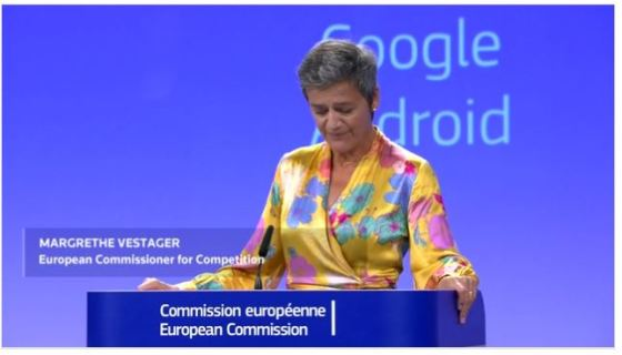 """European Union hit GOOGLE with record $5 billion antitrust fine. 💸How European Union #EU trying to make 4.34 #billion #euro from the """"AIR"""", well #internet #search🗺. Alphabet unit Google was hit with a record-breaking 4.34 billion euro ($5.04 billion) fine on July 18 2018, topping the 2.4 billion euros it was ordered to pay in another case last year."""
